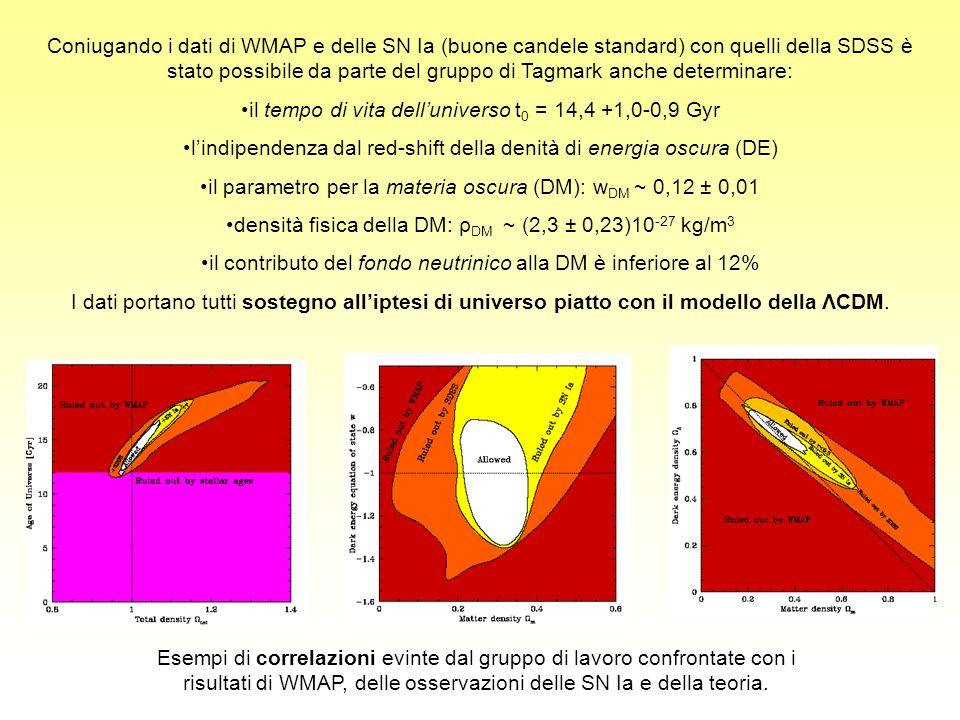 il tempo di vita dell'universo t0 = 14,4 +1,0-0,9 Gyr