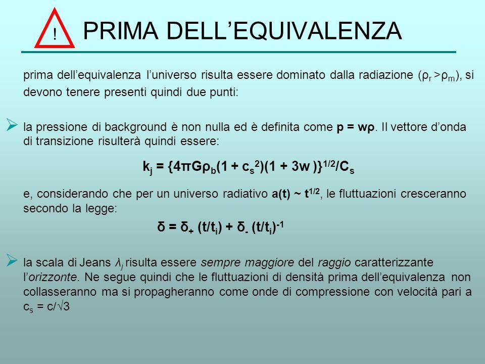 PRIMA DELL'EQUIVALENZA