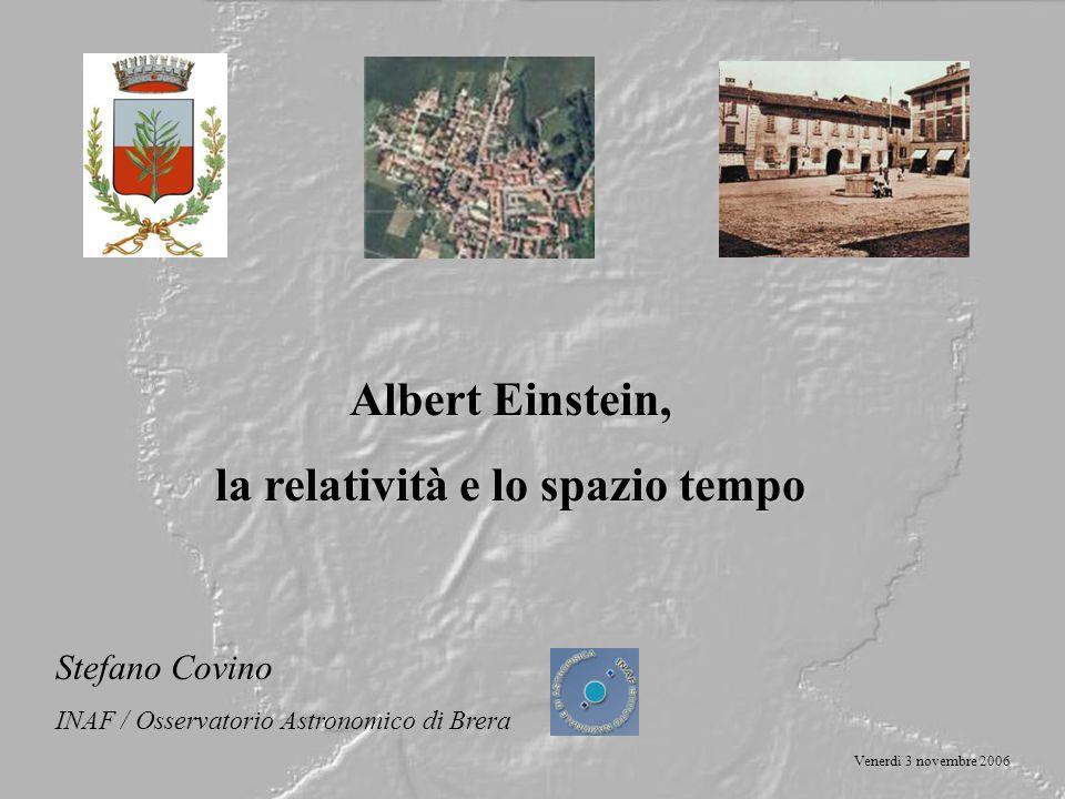 la relatività e lo spazio tempo