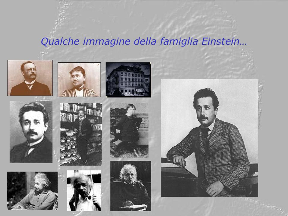 Qualche immagine della famiglia Einstein…