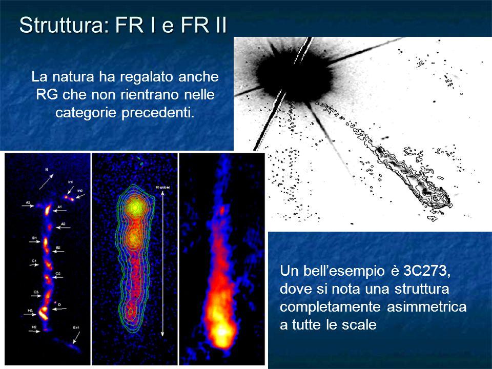 Struttura: FR I e FR II La natura ha regalato anche RG che non rientrano nelle categorie precedenti.