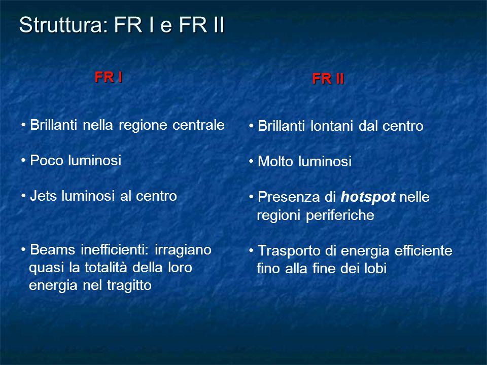 Struttura: FR I e FR II FR I FR II Brillanti nella regione centrale