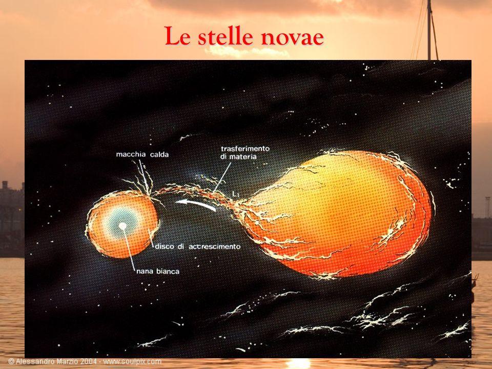Le stelle novaeLa maggior parte delle stelle che si possono osservare sono legate in sistemi binari o multipli.