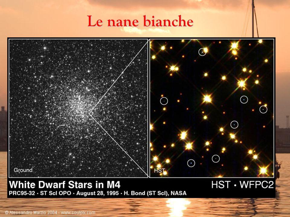 Le nane biancheL ultimo stadio evolutivo di stelle di massa medio piccola è quello di nana bianca.