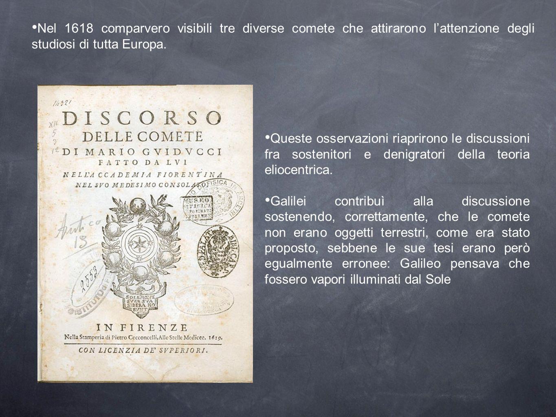 Nel 1618 comparvero visibili tre diverse comete che attirarono l'attenzione degli studiosi di tutta Europa.