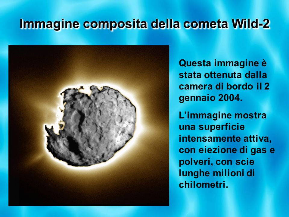 Immagine composita della cometa Wild-2