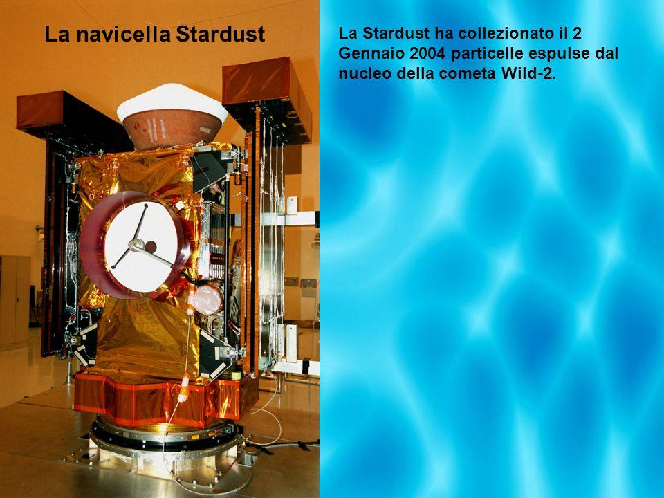 La navicella StardustLa Stardust ha collezionato il 2 Gennaio 2004 particelle espulse dal nucleo della cometa Wild-2.