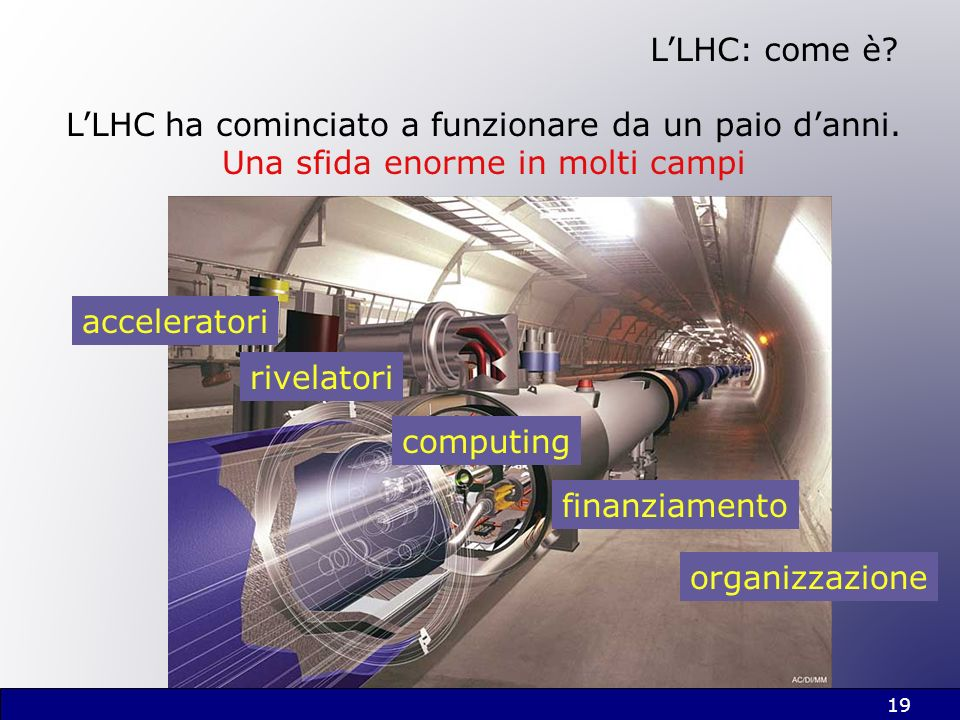 L'LHC ha cominciato a funzionare da un paio d'anni.