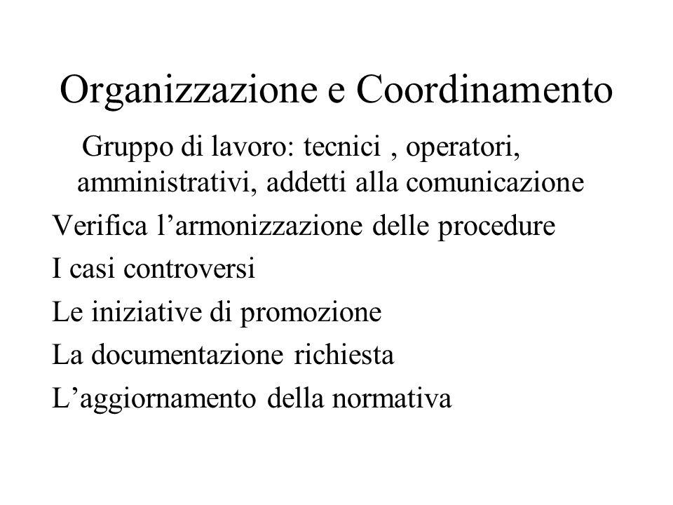 Organizzazione e Coordinamento