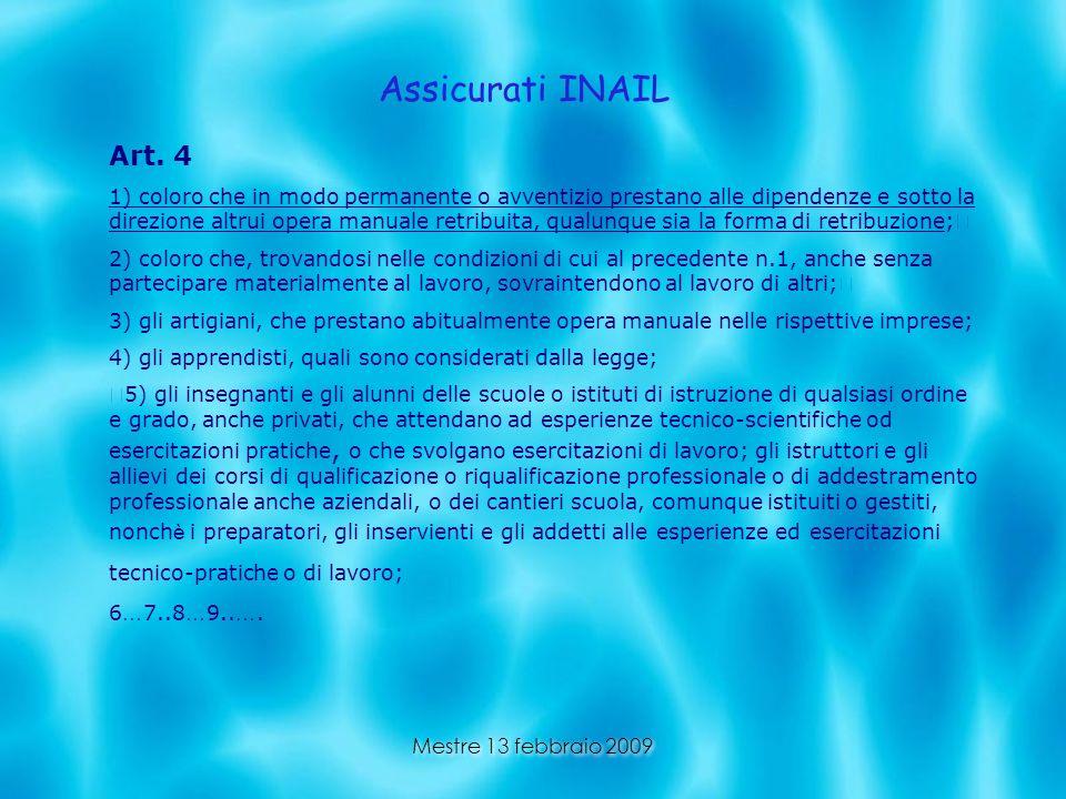 Assicurati INAILArt. 4.