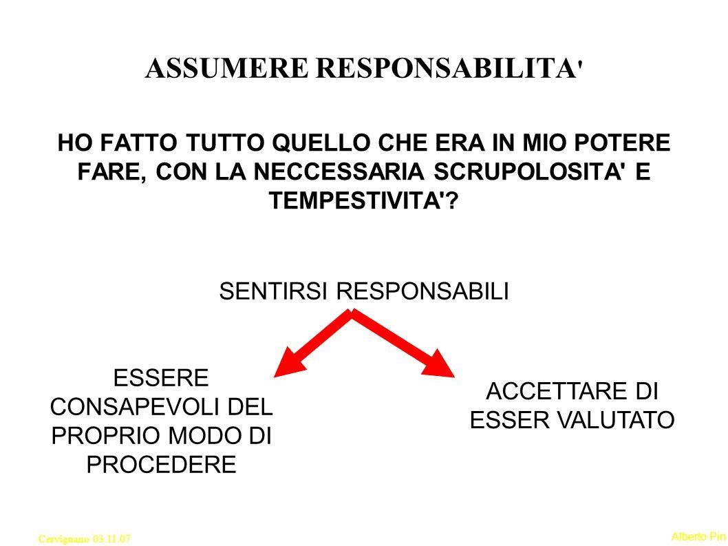 ASSUMERE RESPONSABILITA
