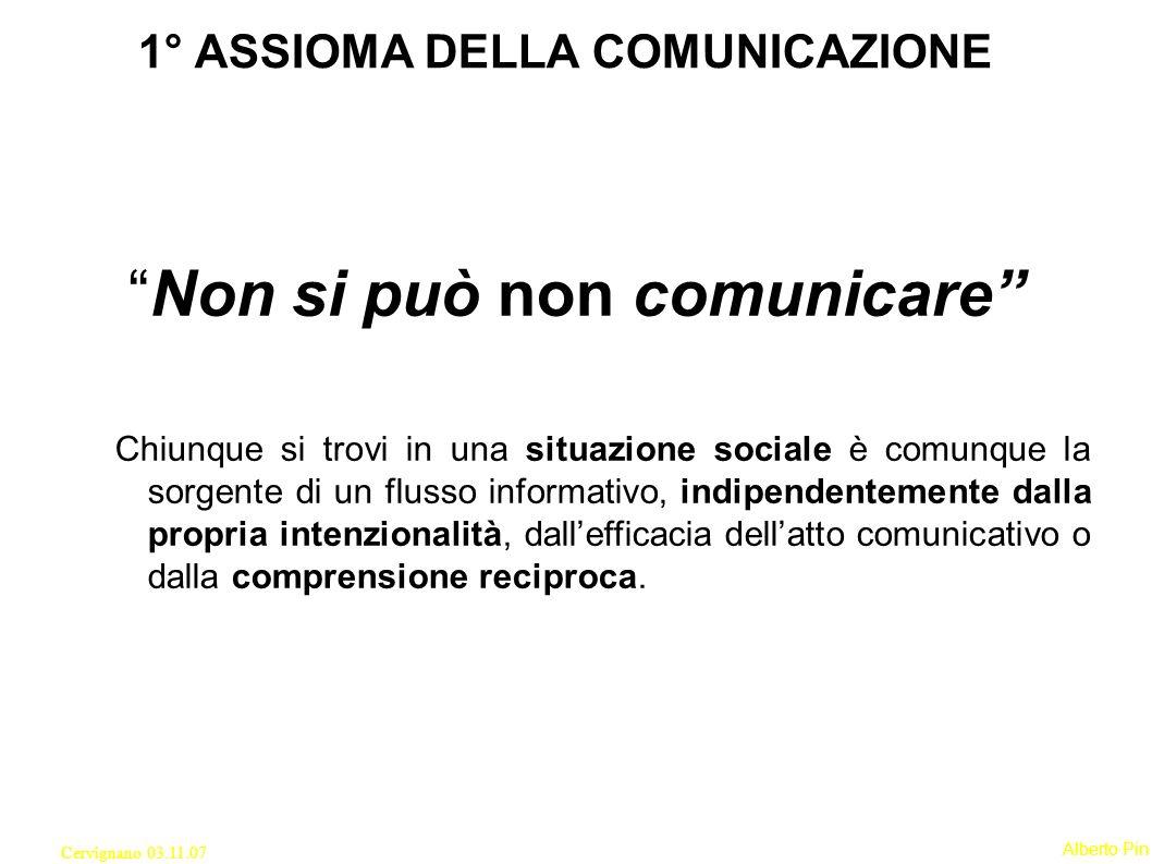 1° ASSIOMA DELLA COMUNICAZIONE
