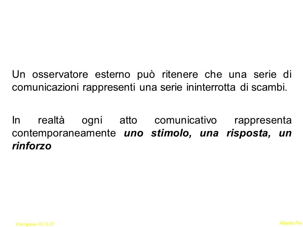 Un osservatore esterno può ritenere che una serie di comunicazioni rappresenti una serie ininterrotta di scambi.