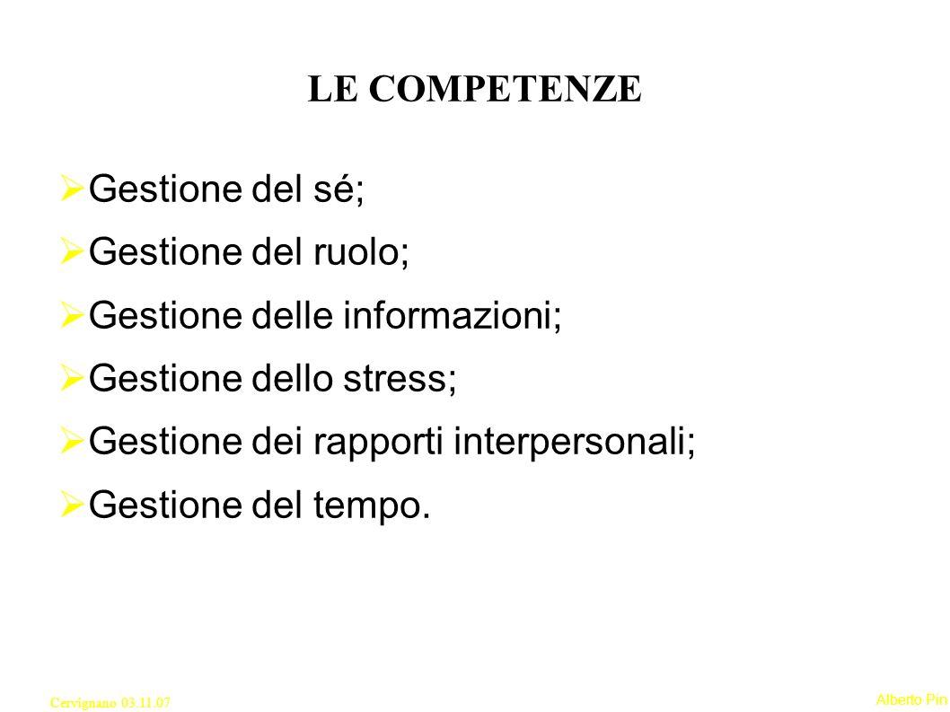 Gestione delle informazioni; Gestione dello stress;