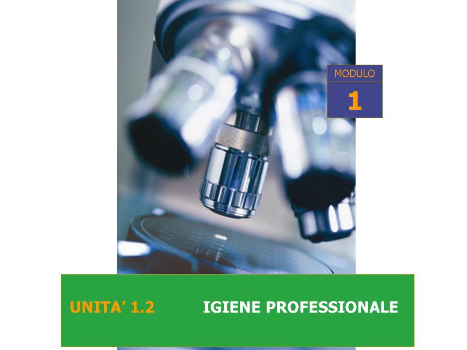 MODULO 1 UNITA' 1.2 IGIENE PROFESSIONALE
