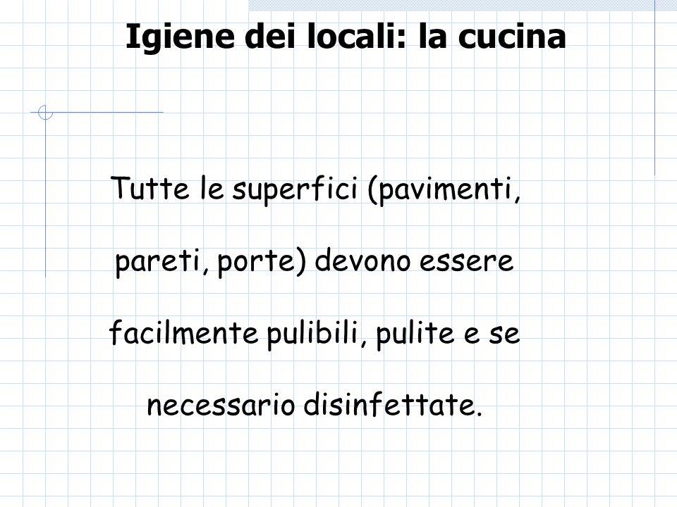 Igiene dei locali: la cucina