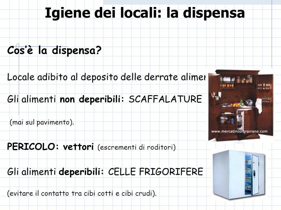 Igiene dei locali: la dispensa
