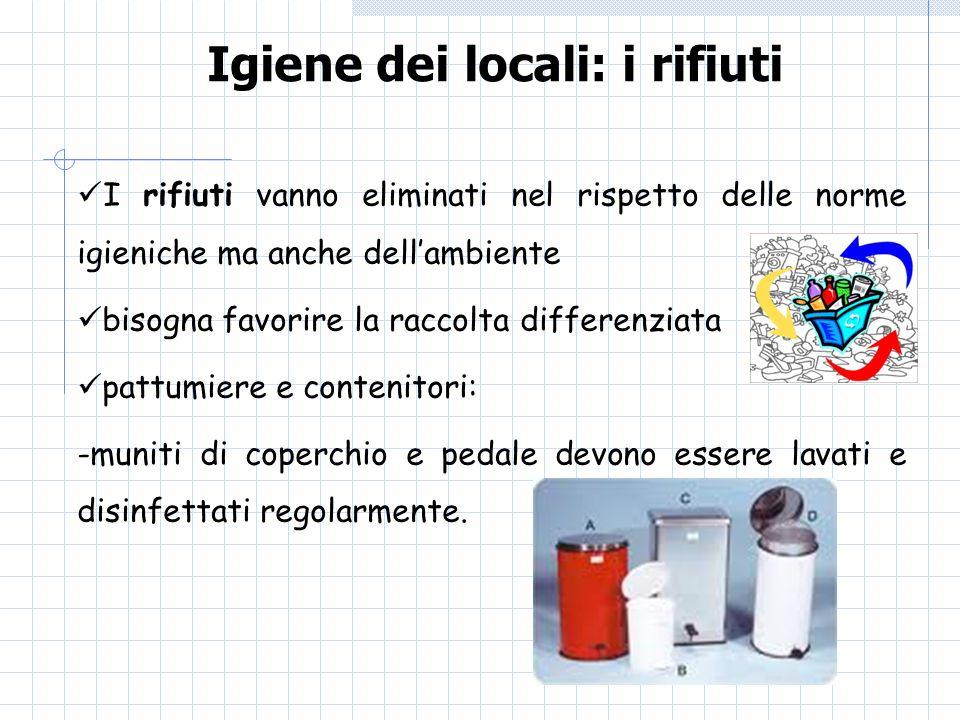 Igiene dei locali: i rifiuti
