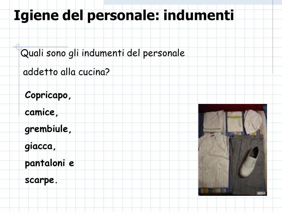 Igiene del personale: indumenti