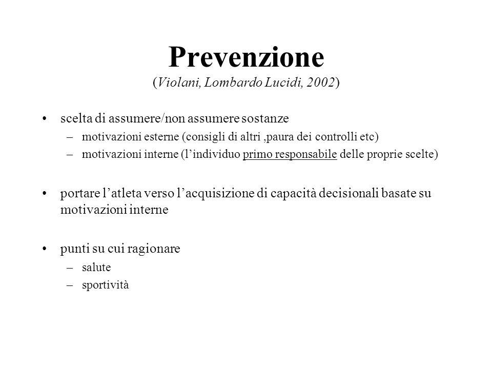 Prevenzione (Violani, Lombardo Lucidi, 2002)