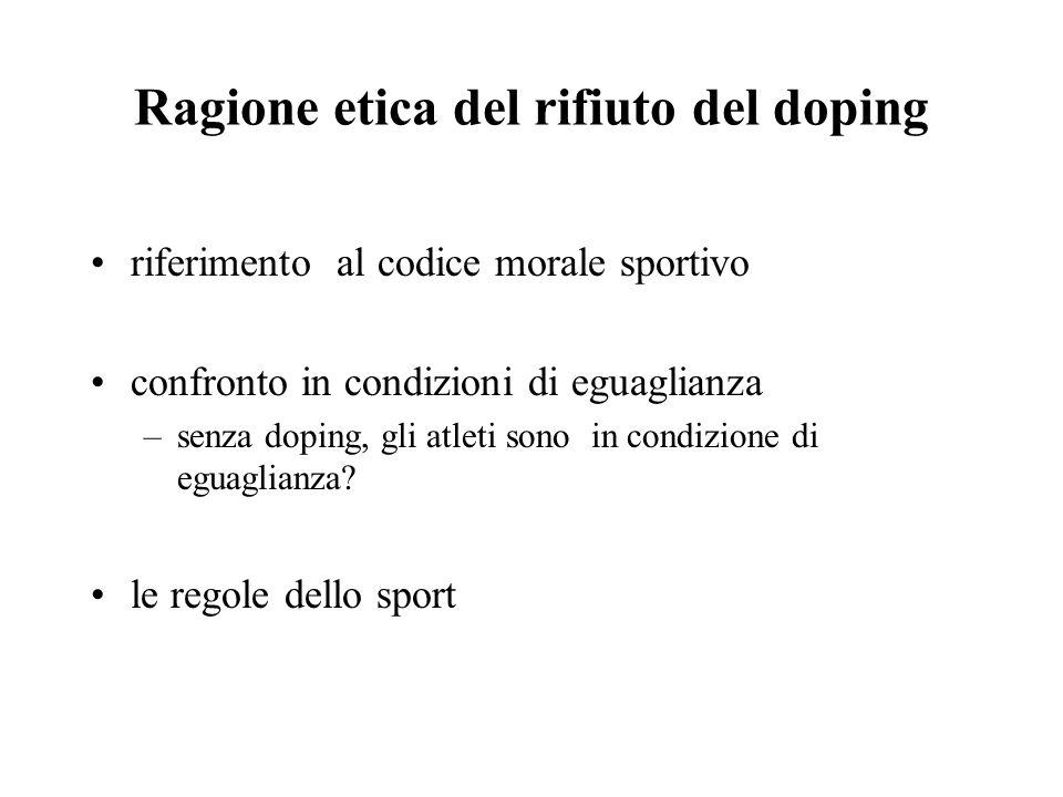 Ragione etica del rifiuto del doping