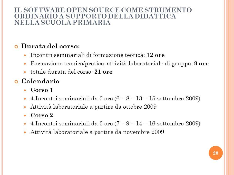IL SOFTWARE OPEN SOURCE COME STRUMENTO ORDINARIO A SUPPORTO DELLA DIDATTICA NELLA SCUOLA PRIMARIA
