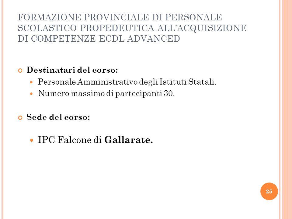 IPC Falcone di Gallarate.