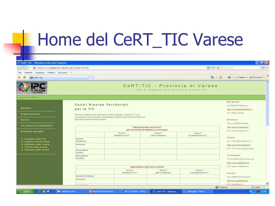 Home del CeRT_TIC Varese