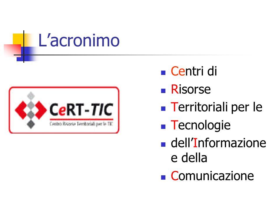 L'acronimo Centri di Risorse Territoriali per le Tecnologie