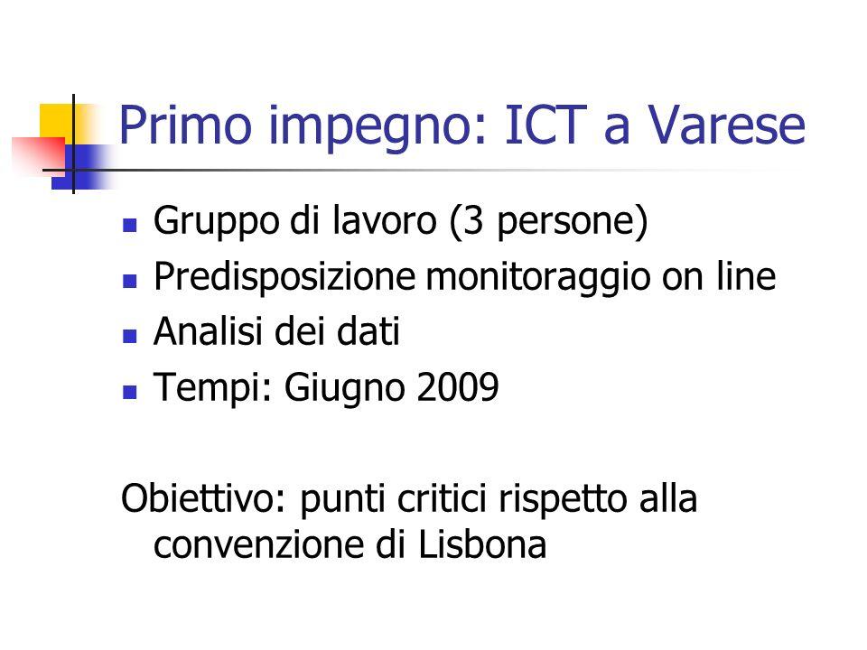 Primo impegno: ICT a Varese