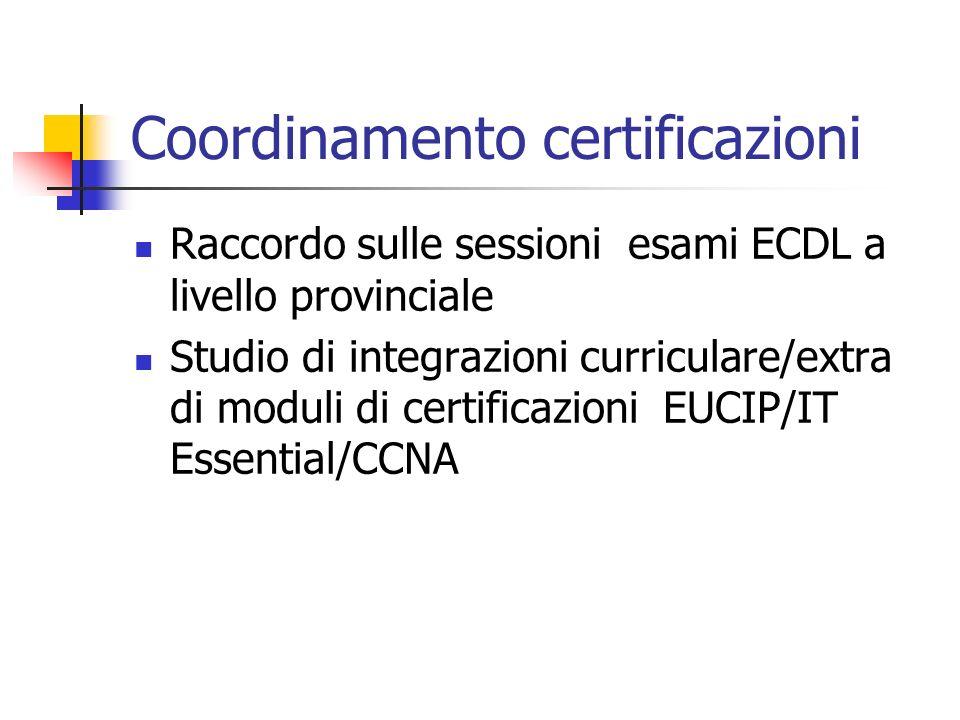 Coordinamento certificazioni