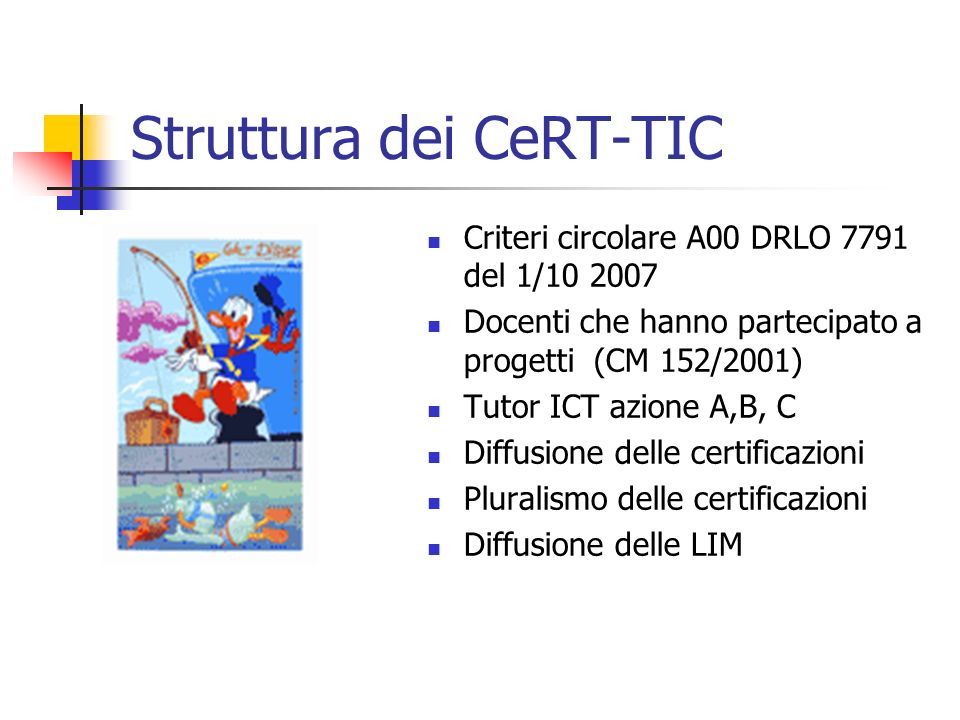 Struttura dei CeRT-TIC