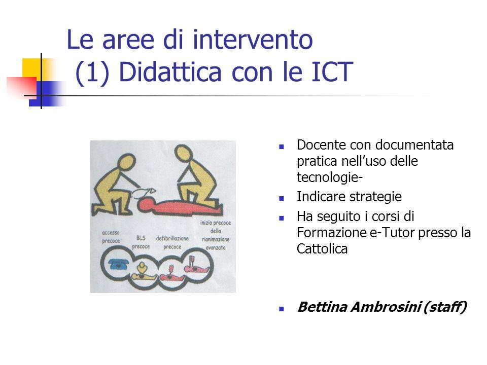 Le aree di intervento (1) Didattica con le ICT