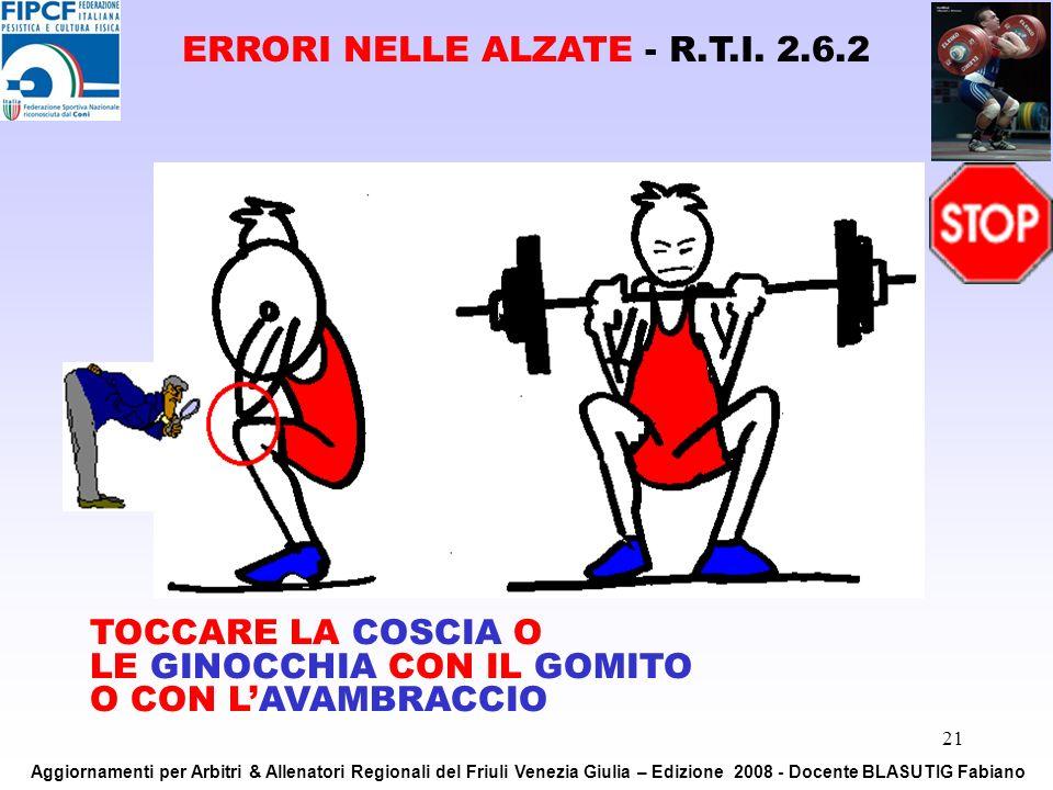 ERRORI NELLE ALZATE - R.T.I. 2.6.2