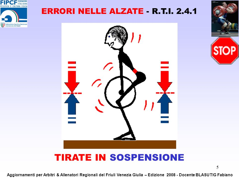 ERRORI NELLE ALZATE - R.T.I. 2.4.1
