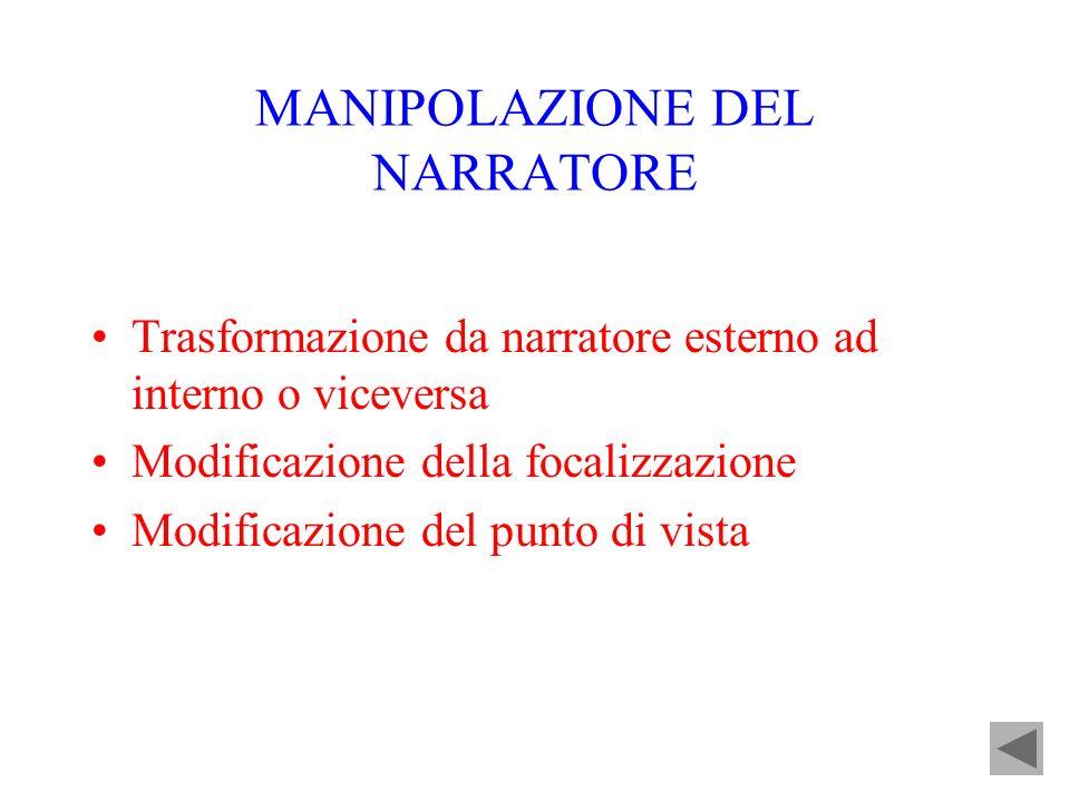 MANIPOLAZIONE DEL NARRATORE