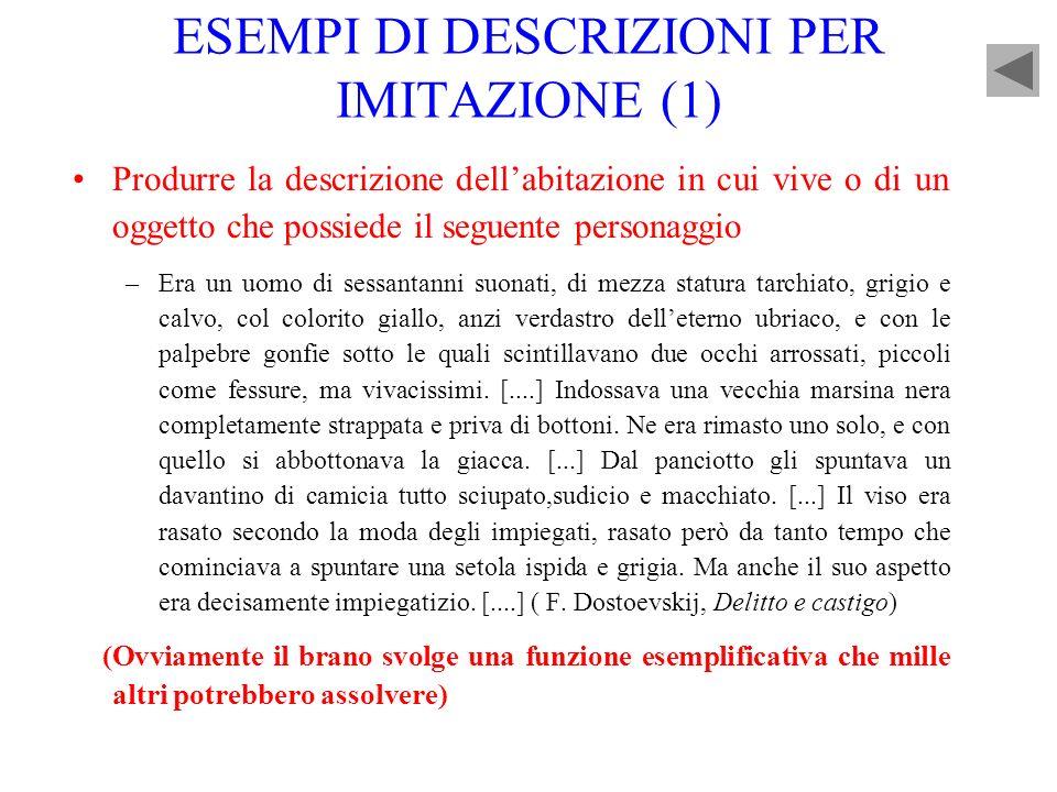 ESEMPI DI DESCRIZIONI PER IMITAZIONE (1)