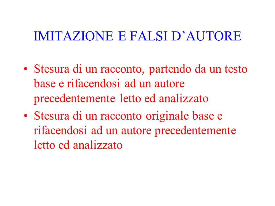IMITAZIONE E FALSI D'AUTORE