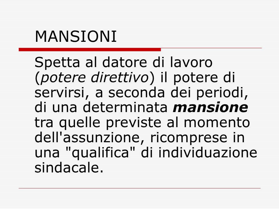 MANSIONI