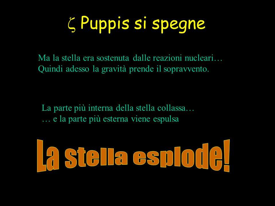 z Puppis si spegne La stella esplode!