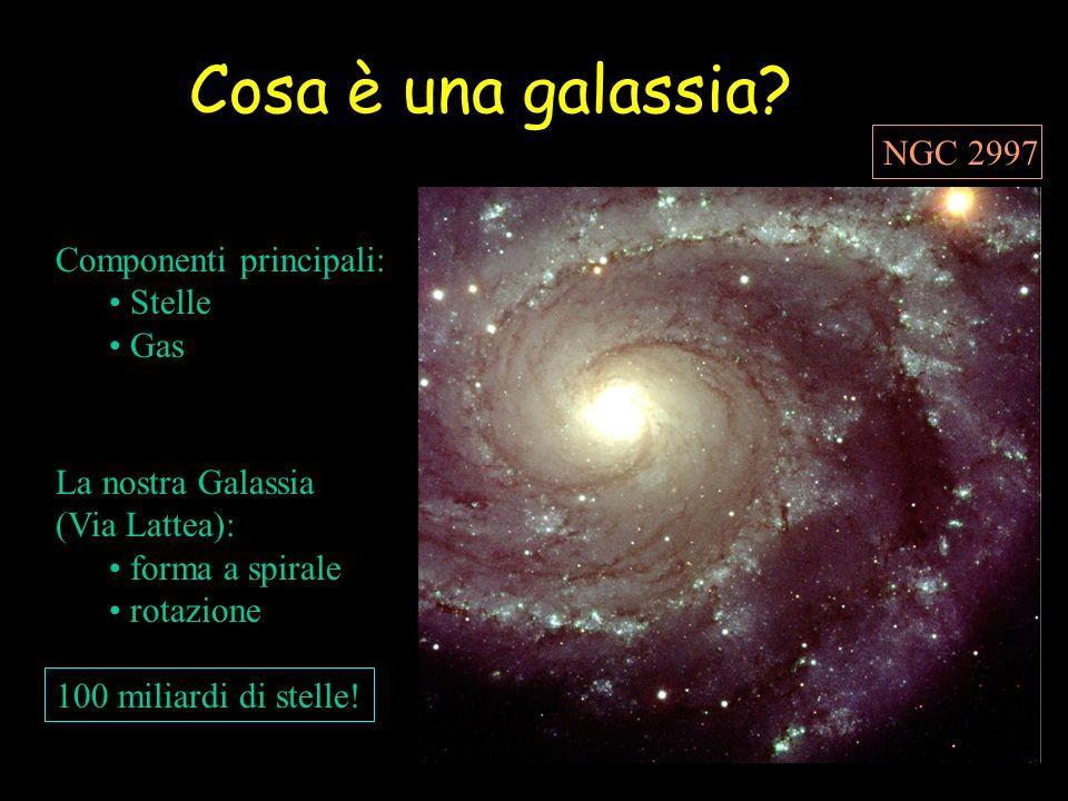 Cosa è una galassia NGC 2997 Componenti principali: Stelle Gas