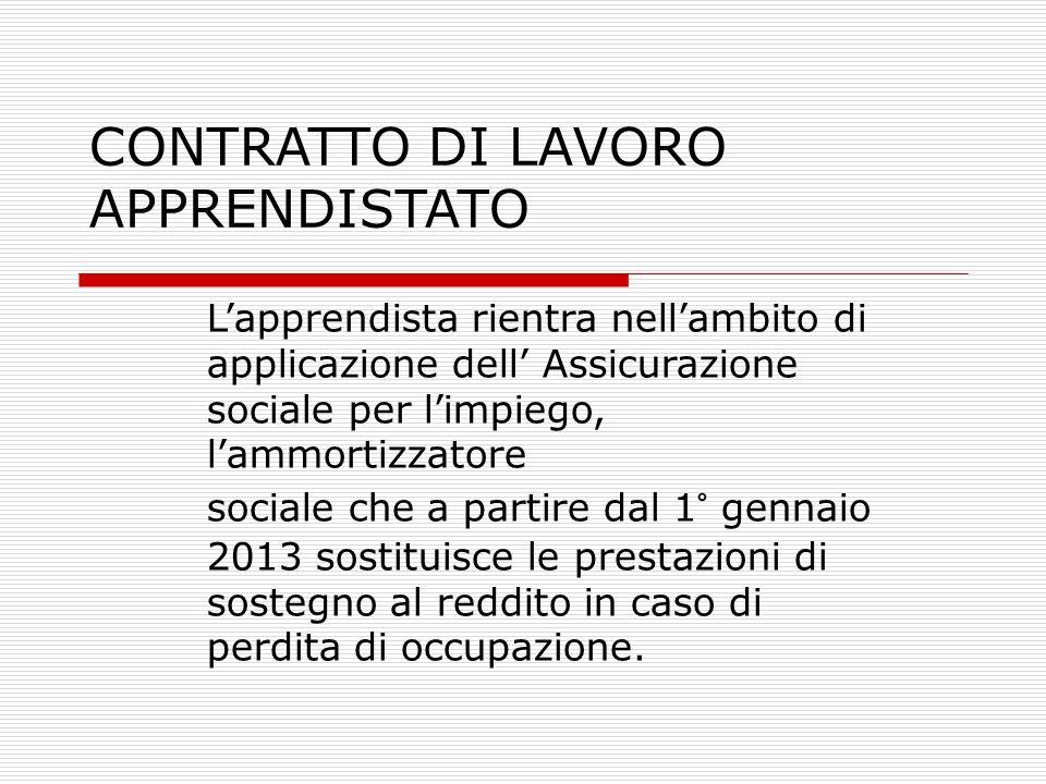 CONTRATTO DI LAVORO APPRENDISTATO