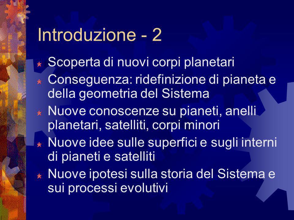 Introduzione - 2 Scoperta di nuovi corpi planetari