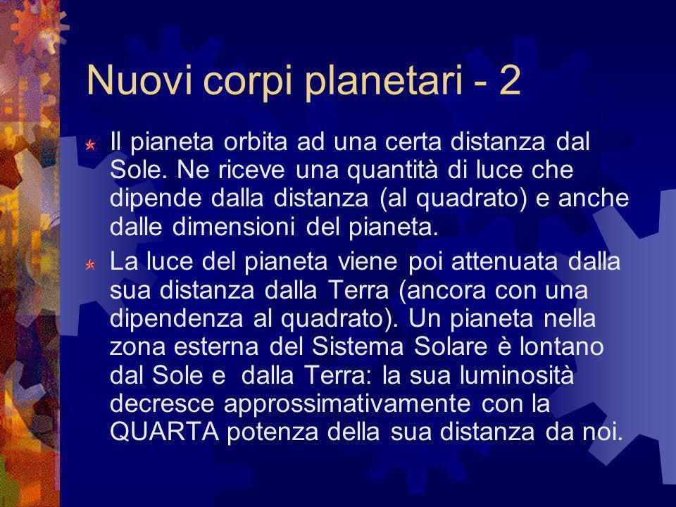 Nuovi corpi planetari - 2
