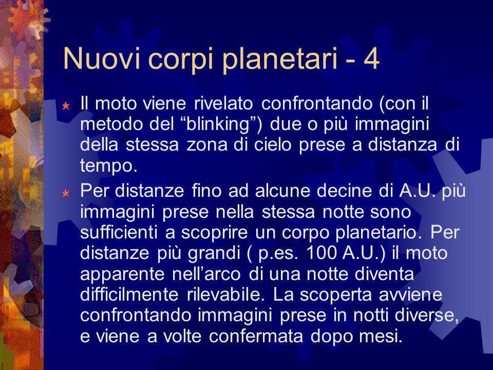 Nuovi corpi planetari - 4