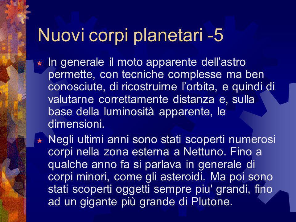 Nuovi corpi planetari -5