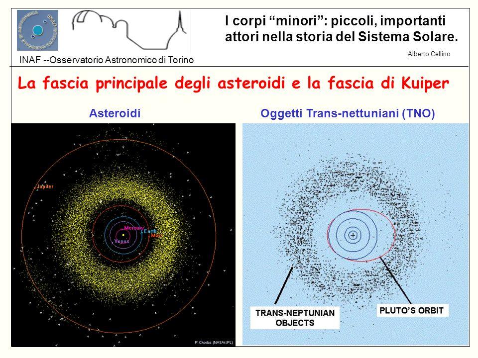 La fascia principale degli asteroidi e la fascia di Kuiper