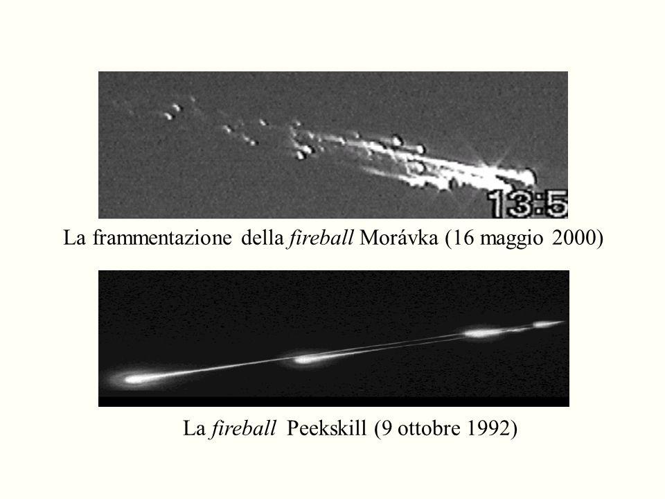 La frammentazione della fireball Morávka (16 maggio 2000)