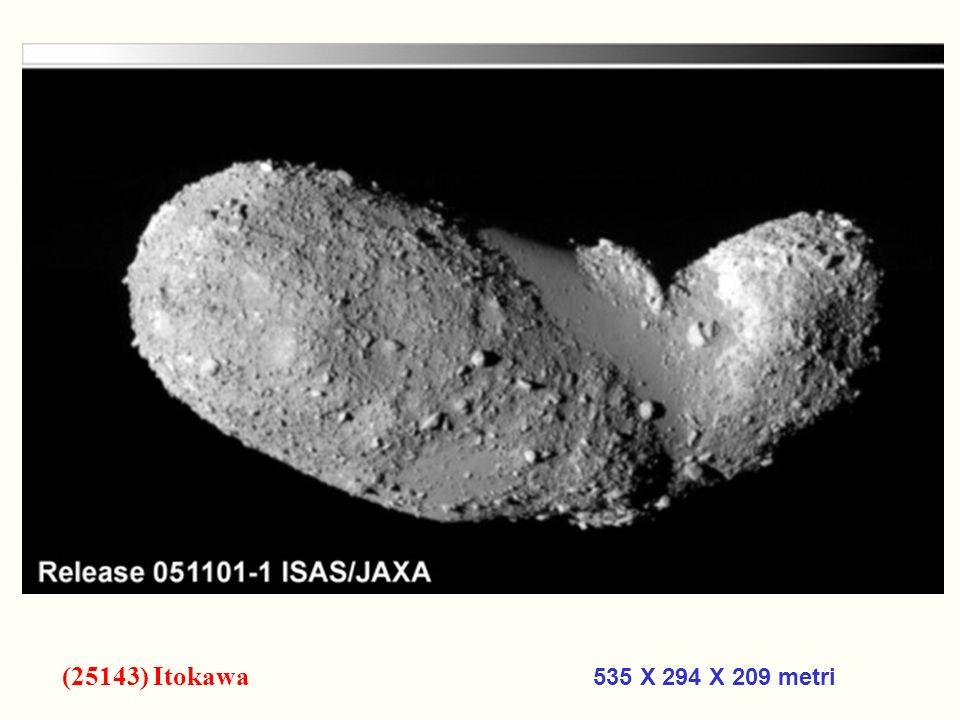 (25143) Itokawa 535 X 294 X 209 metri