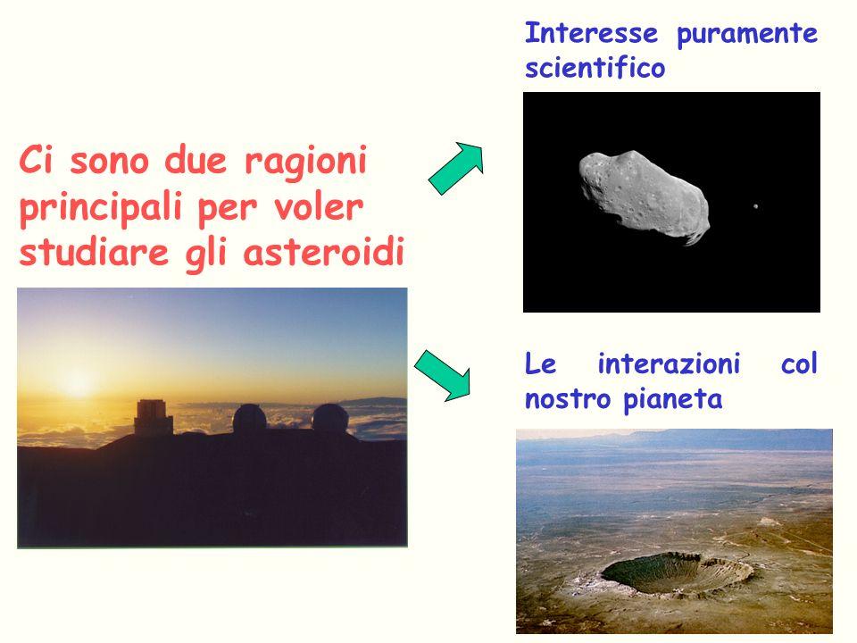 Ci sono due ragioni principali per voler studiare gli asteroidi
